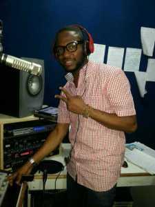 presenting on the radio