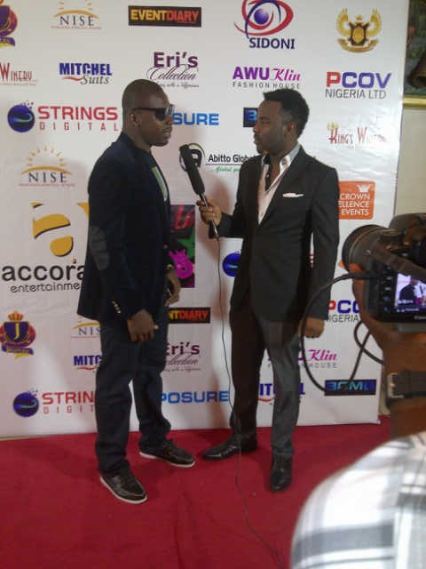 Nomzy And Adams (Soundcity) on the red carpet