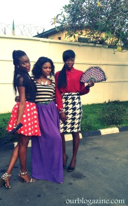 Models and Stylist (middle)